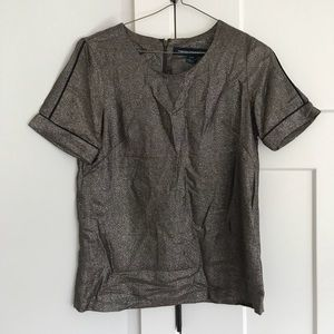 French Connection Gold Blouse